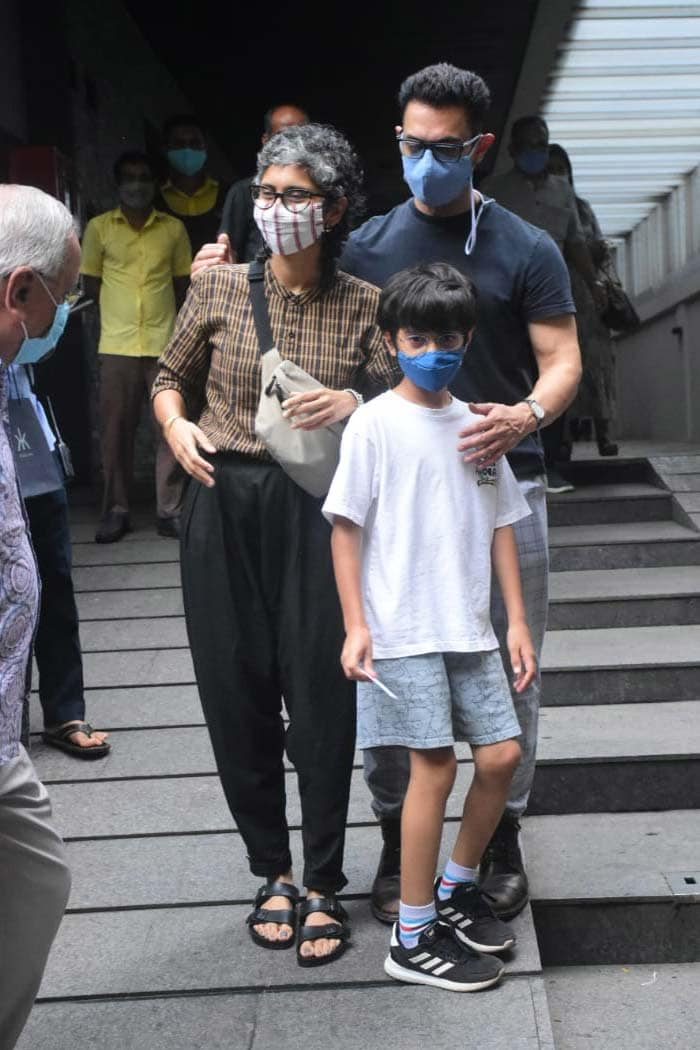 Aamir Khan\'s Well-Spent Day With Kiran Rao And Son Azad