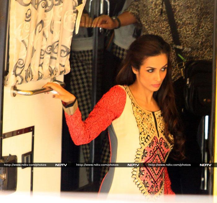 On The Job: Salman, Malaika on Kick Sets
