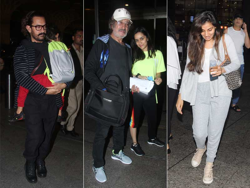 Day Out With Dad! Aamir-Azad, Shraddha-Shakti Kapoor And Naina-Ajitabh Bachchan