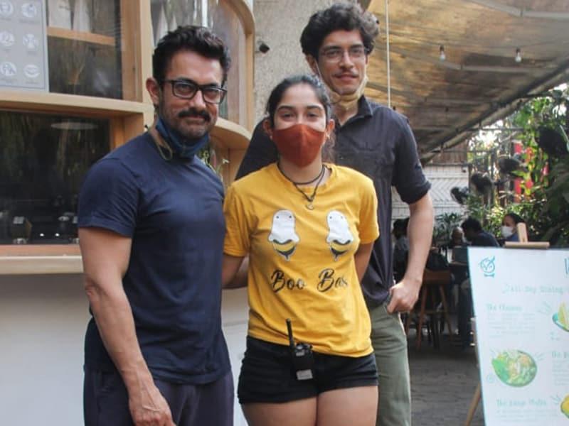 Photo : बेटे जुनैद और बेटी इरा के साथ टाइम बिताते नजर आए आमिर खान