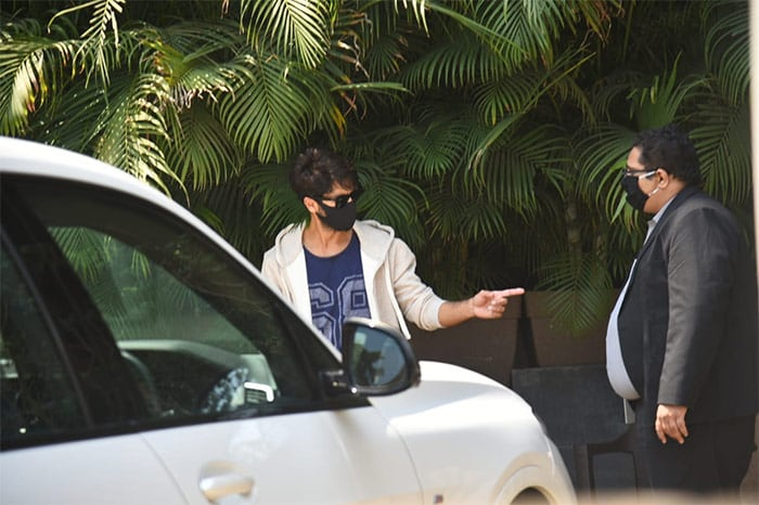 Shahid Kapoor took a test drive of his new car in Juhu.