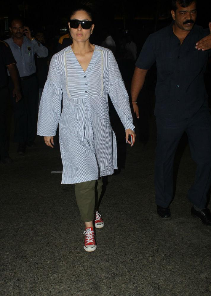 एयरपोर्ट पर करीना-आमिर और रानी की 'तलाश' पूरी