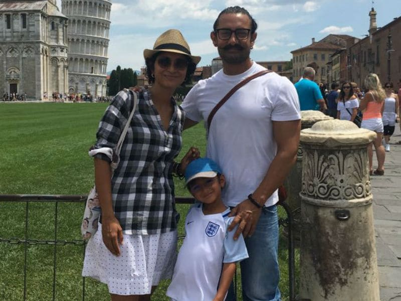 Photo : Inside Aamir Khan's Italy Vacation With Kiran And Azad