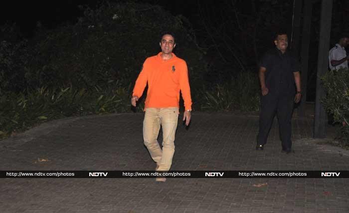 Vidya, Kunal, Anil At Aamir\'s 50th Birthday Party