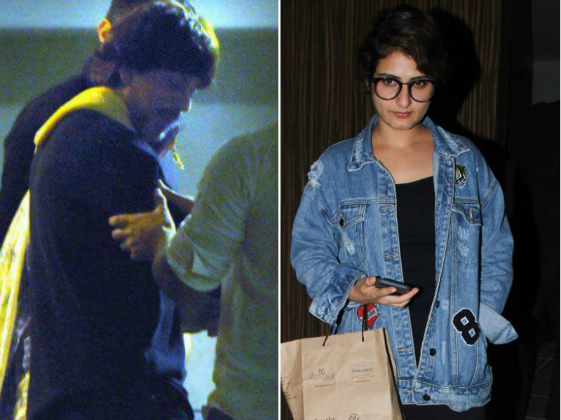 Shah Rukh And A Dangal Girl Spotted At Aamir Khan's Birthday Party