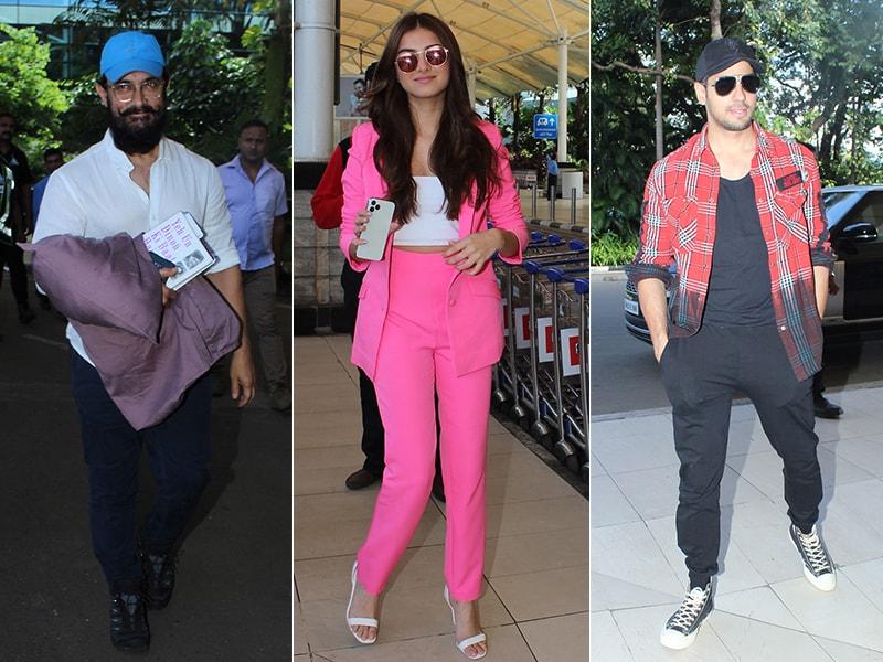 Photo : एयरपोर्ट पर इस अंदाज़ में दिखे आमिर खान, तारा सुतारिया और सिद्धार्थ