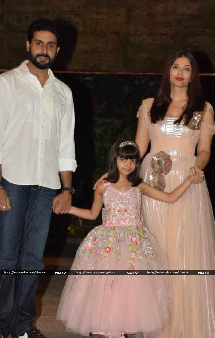 At Aaradhya\'s B\'day Bash, Abhishek Bachchan And Shah Rukh Khan Steal The Limelight