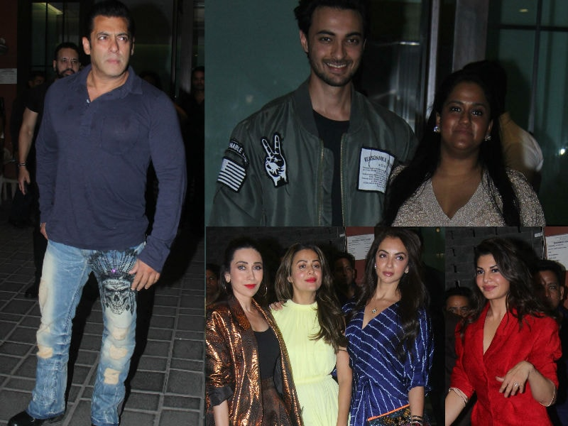 Salman Khan, Karisma, Shilpa And Other Party Rockers At Arpita-Aayush's Party