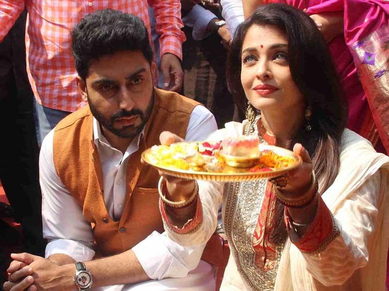 Festive Fervour: Abhishek, Aishwarya Celebrate Gudi Padwa
