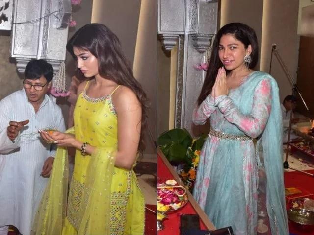 Photo : गणेश चतुर्थी समारोह में नज़र आईं उर्वशी रौतेला और तुलसी कुमार