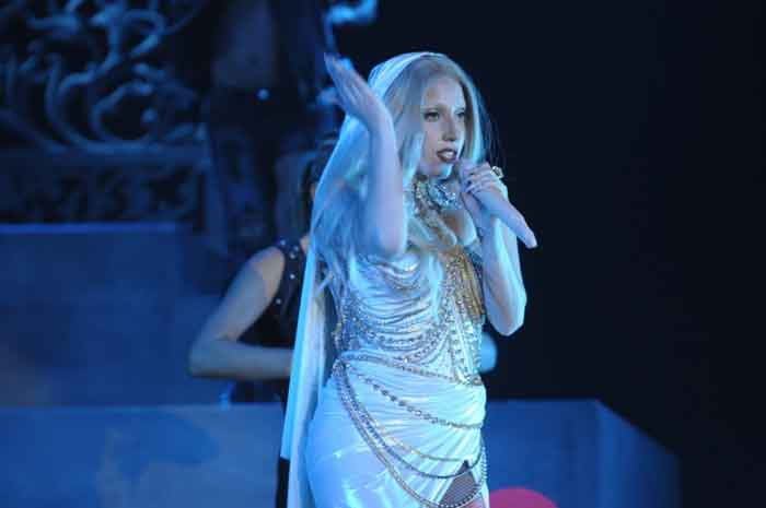 Lady Gaga performs for Indian fans