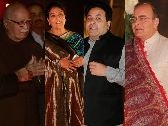 Political VIPs at Ahana Deol's Delhi reception