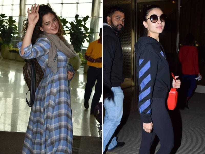 Kangana Ranaut And Alia Bhatt Light Up Mumbai Airport