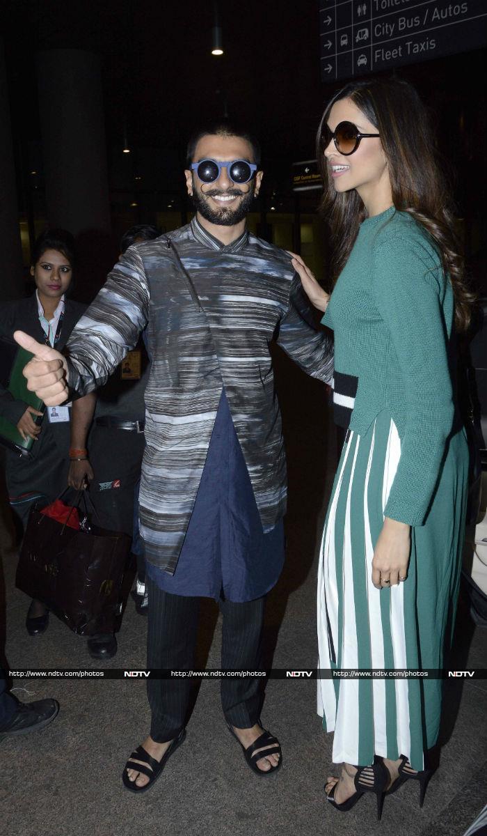 Ranveer, Deepika\'s Airport Diaries