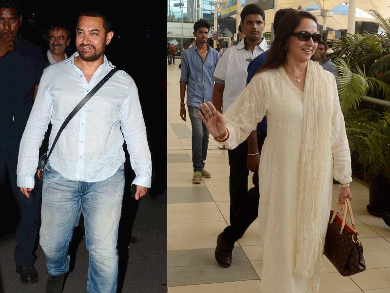 Airport Diaries: Aamir Khan, Hema Malini