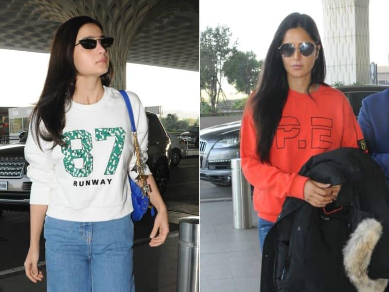Photo : एयरपोर्ट पर स्पॉट हुए शाहरुख, आलिया और इन सितारों की ऑउटफिट का जवाब नहीं