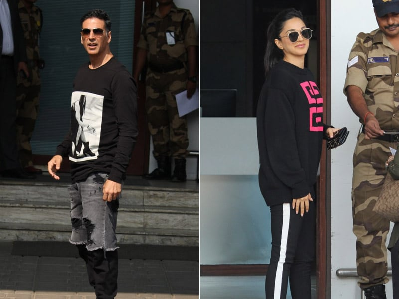 Akshay Kumar And Kiara Advani: Happy Faces At A Busy Airport