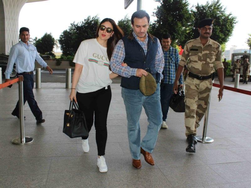 Kareena Kapoor And Saif Ali Khan Travel Minus Son Taimur