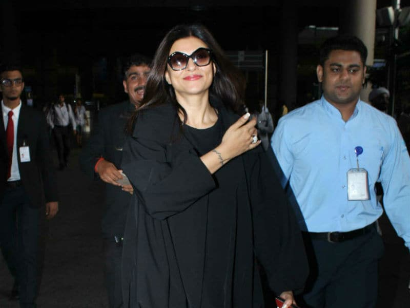 Sushmita Sen Sports A Comfy Look At The Airport