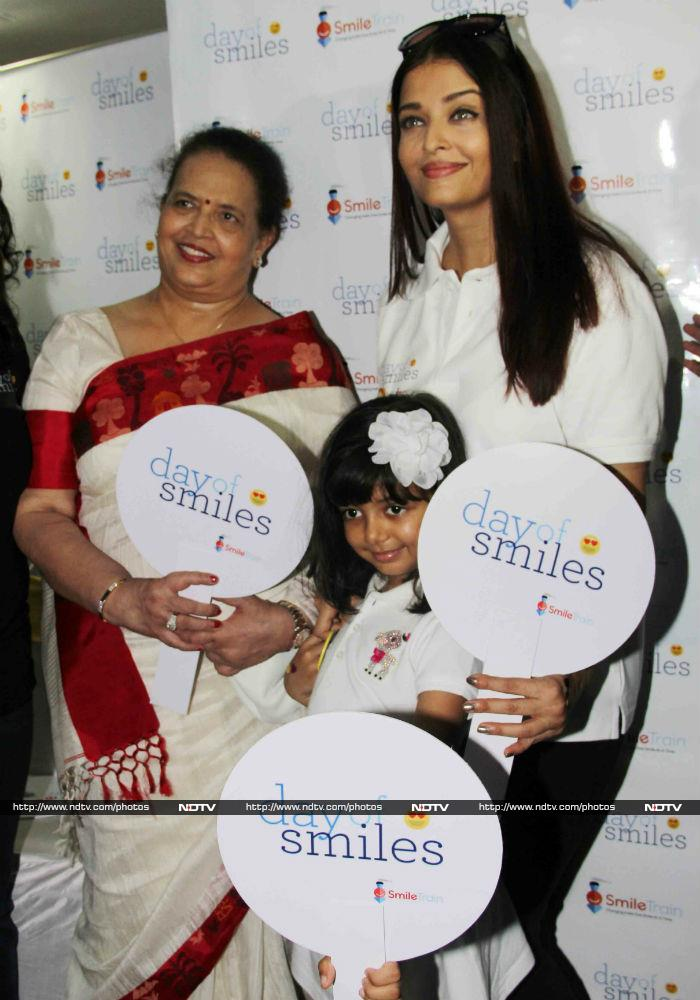 बेटी के साथ ऐश्वर्या राय बच्चन ने मनाया पिता का B'day