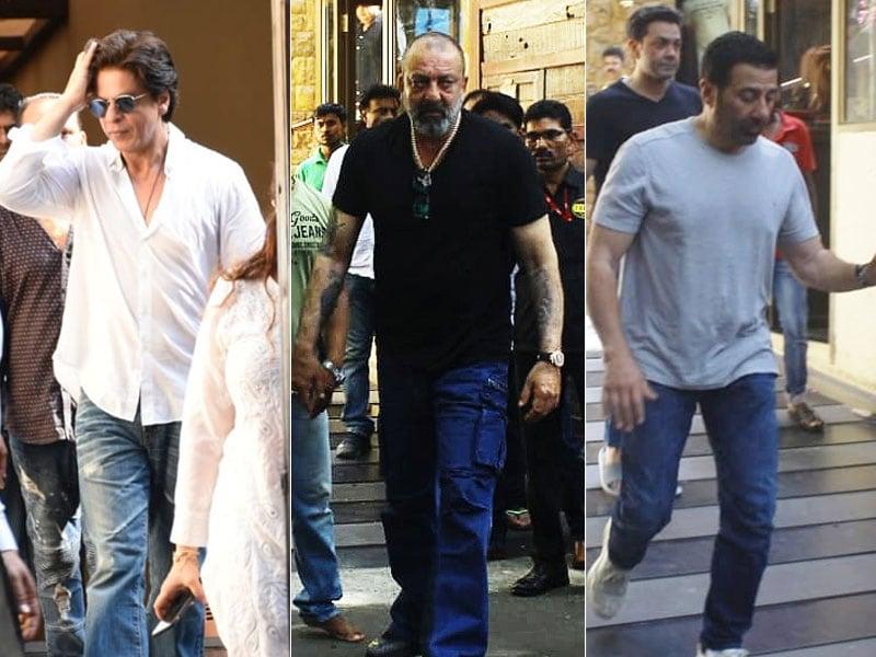 Shah Rukh, Aishwarya, Abhishek, Sanjay Dutt: Celebs Visit Ajay After Veeru Devgan's Death