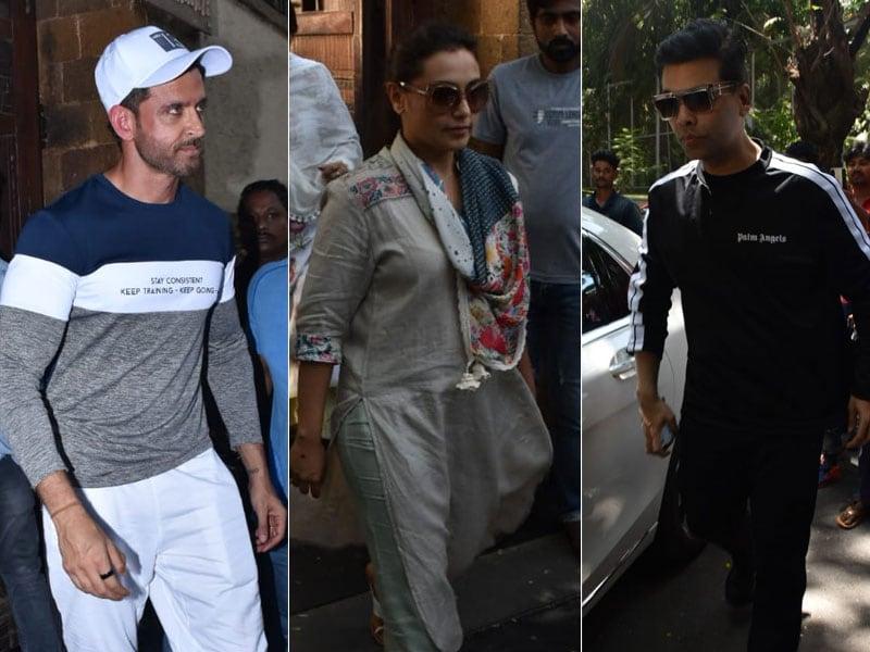 Rani Mukerji, Karan Johar, Hrithik Roshan Drop By Ajay Devgn's Home
