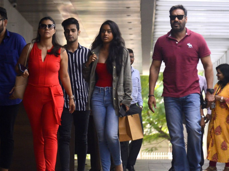Ajay Devgn And Kajol Take Nysa For A Lunch Date