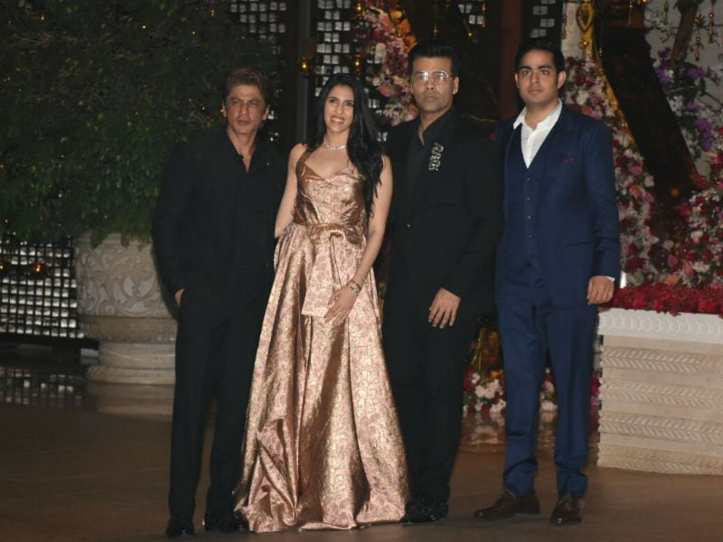Shah Rukh Khan, Aishwarya At Ambani Party For Akash And Shloka