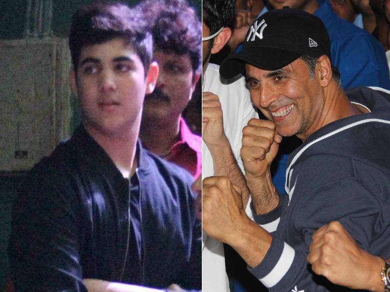 Photo : अक्षय कुमार ने बेटे आरव के साथ मनाया 'जॉली गुड डे'