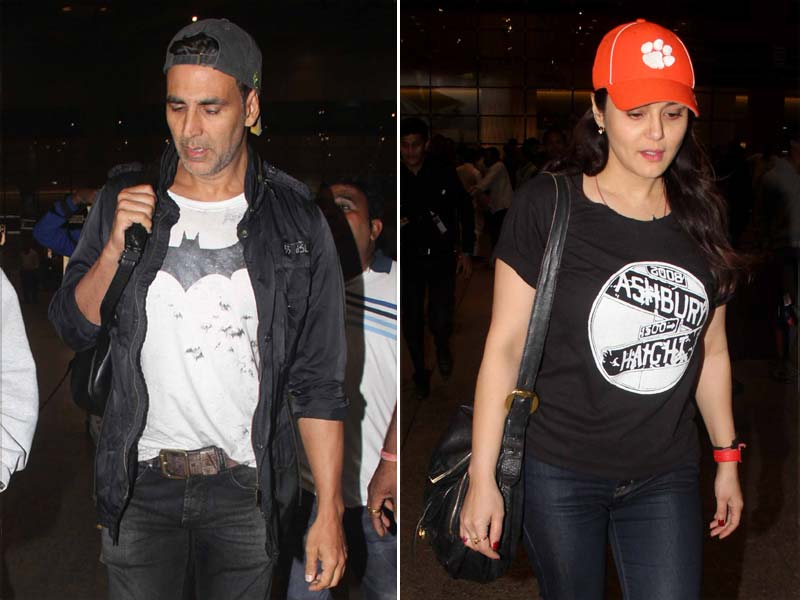 Of Swag and Cute Dimples: Akshay, Preity at the Airport