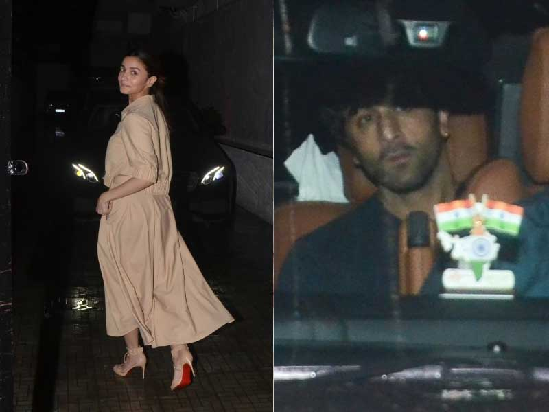 Alia Bhatt And Ranbir Kapoor Began The Week With Work