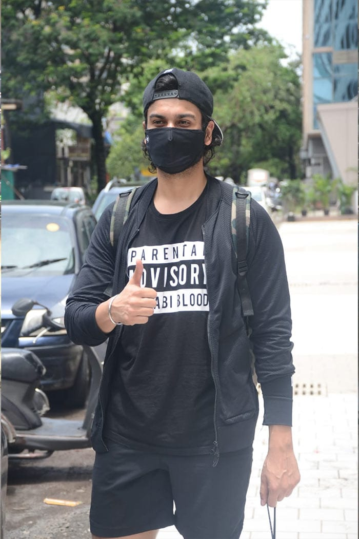 Vicky\'s brother, actor Sunny Kaushal, was also spotted outside his gym.