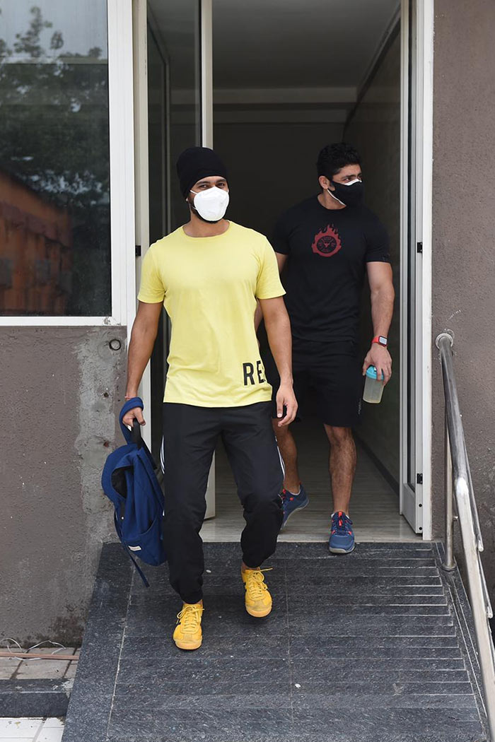 Actor Vicky Kaushal was pictured outside his gym.