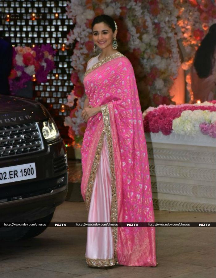 Akash Ambani, Shloka go traditional for pre-engagement bash