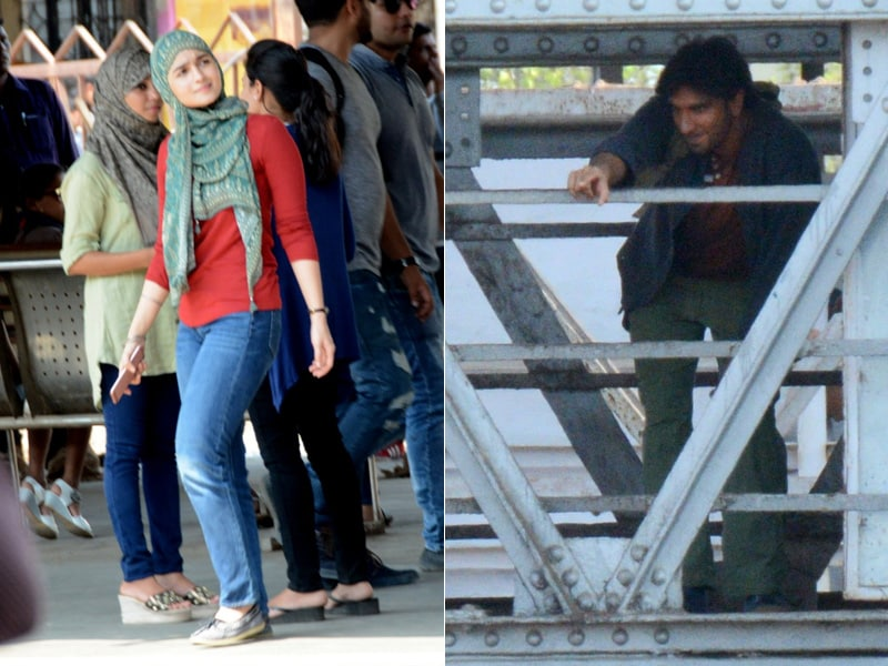 Alia Bhatt, Ranveer Singh On The Sets Of Gully Boy
