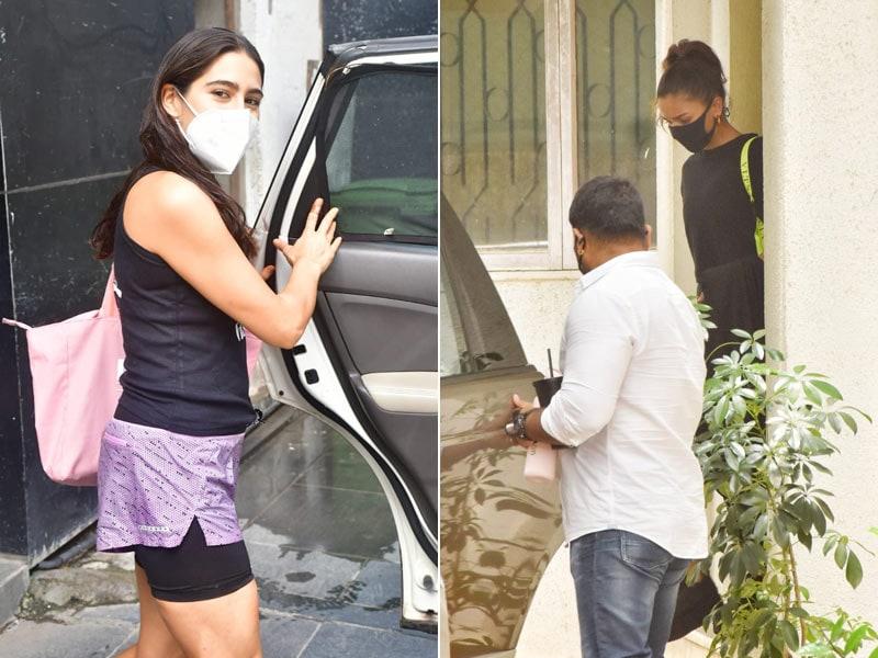 Photo : आलिया भट्ट और सारा अली खान को मुंबई में किया गया स्पॉट