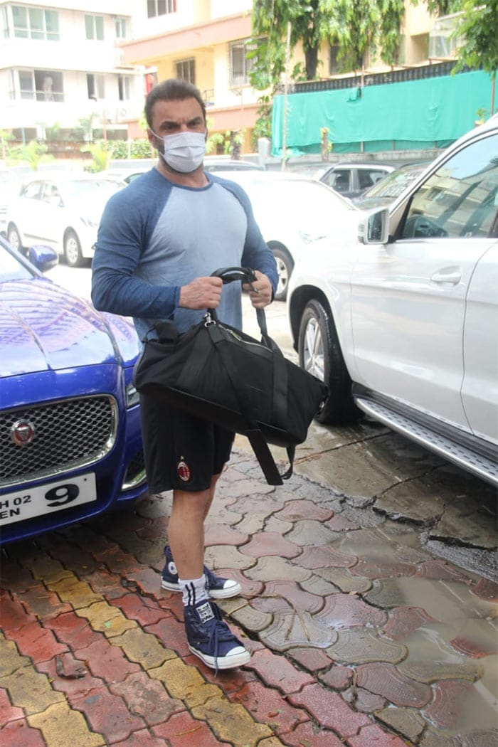 Actor-producer Sohail Khan was also photographed in the city.