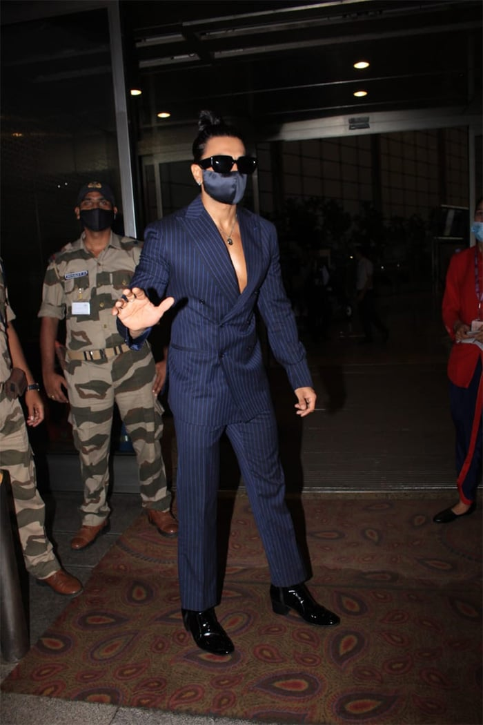 All Eyes Were On Ranveer Singh And His Ponytails At The Airport