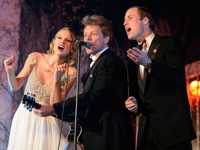 Livin' On A Prayer: Prince William, Taylor Swift, Jon Bon Jovi