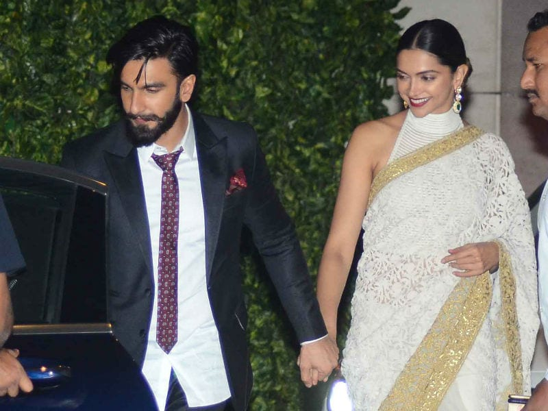 Deepika, Ranveer Hold Hands At Ambani Party. SRK, Bachchans Also Attend