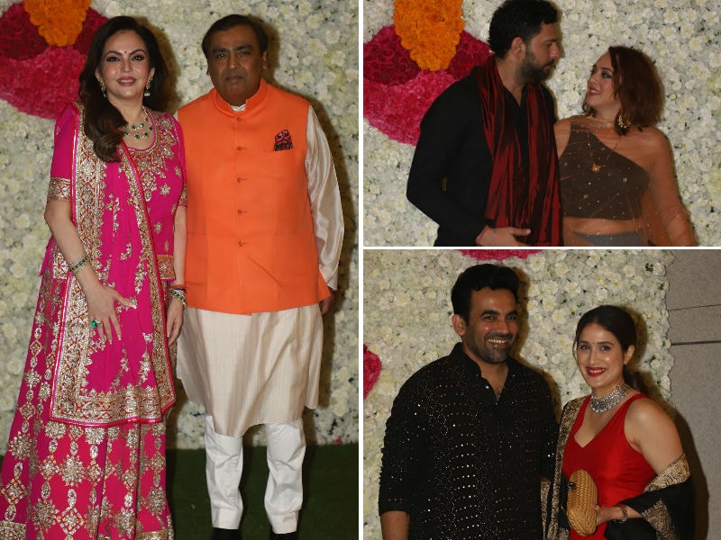 Yuvraj-Hazel, Zaheer-Sagarika Set Festive Mood At The Ambanis' Diwali Party