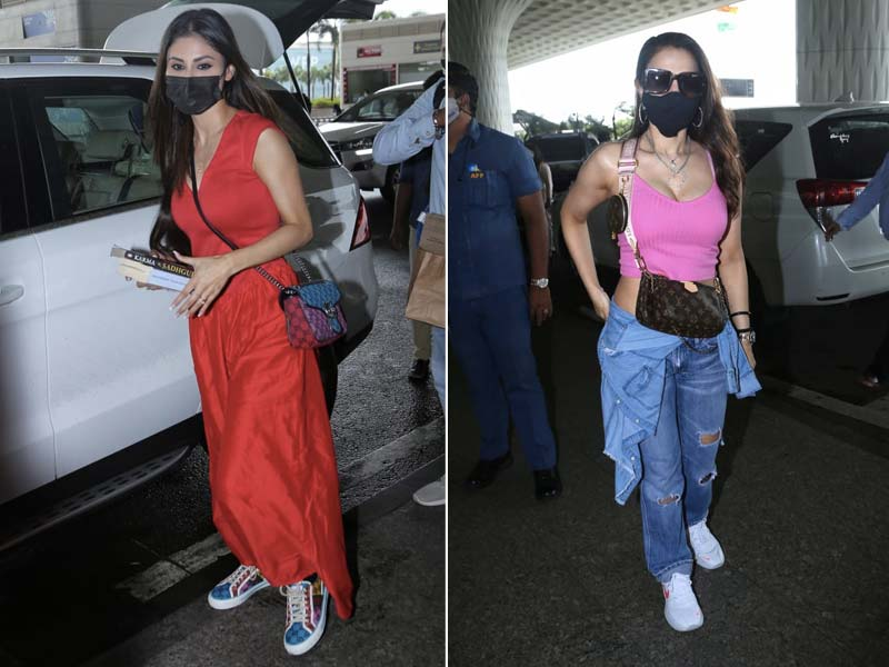 Photo : Style Check: Ameesha Patel And Mouni Roy's Airport Looks