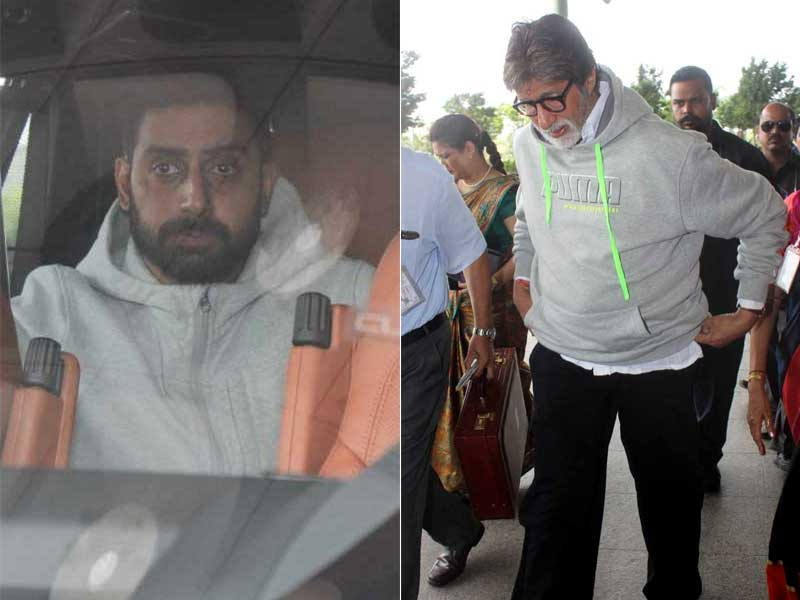 When Abhishek Came To See Off Amitabh Bachchan At The Airport