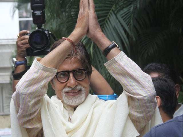 Big B's grand namaste on 71st birthday