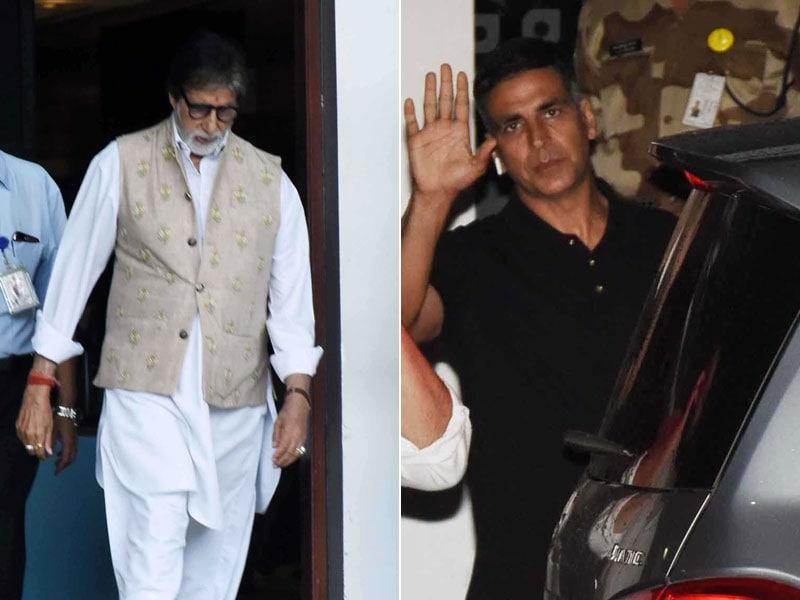 Amitabh Bachchan And Akshay Kumar Return To Mumbai