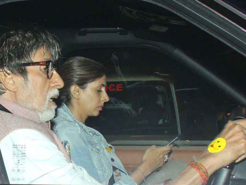 Amitabh Bachchan And Daughter Shweta Hit The Road And We're Smiling