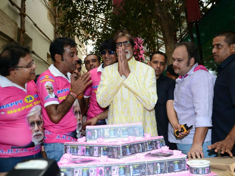 Amitabh Bachchan Celebrates Birthday With Media