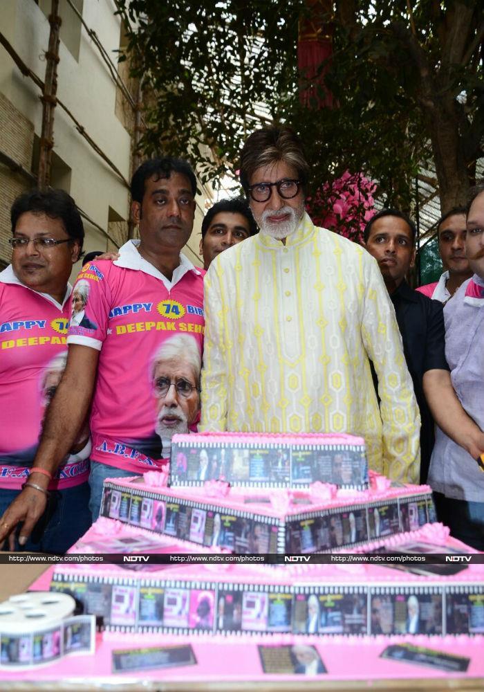 Amitabh Bachchan Celebrates Birthday With Media