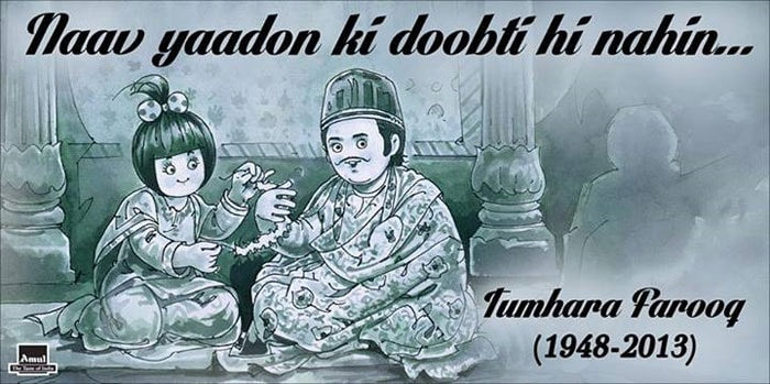 Amul pays tribute to Farooq Sheikh