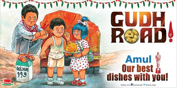 Amul\'s Gudh treat for The Good Road